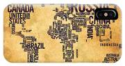 World Map Typography 6 Watercolor Painting IPhone Case