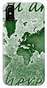 World Map You Are Here Novo In Green IPhone Case