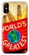 World's Greatest Fries IPhone Case