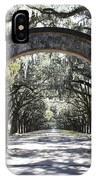 Wormsloe Plantation Gate 2x3 IPhone Case