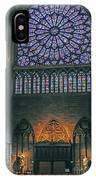 Worship In Notre Dame IPhone Case