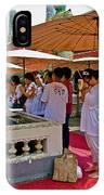 Worshippers In Front Of The Royal Temple  At Grand Palace Of Tha IPhone Case