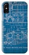 Wright Brothers Aero Engine Vintage Patent Blueprint IPhone Case
