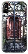 Wrought Iron Gate And Red Door Charleston South Carolina IPhone Case