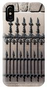 Wrought Iron Window Grille IPhone Case