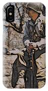 Wwii Soldier Two IPhone Case