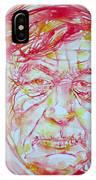 Wystan Auden  Watercolor Portrait IPhone Case