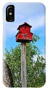 Yachats Red Birdhouse IPhone Case