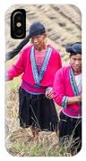 Yao Ethnic Minority Women On Rice Terrace IPhone Case