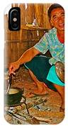 Yao Mien Tribe Man In His Home With His Cooking Pot North Of Chiang Rai In Mae Salong-thailand  IPhone Case