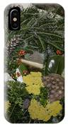 Yarrow And Lotus Wreath Squared IPhone Case