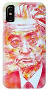 Yasunari Kawabata Watercolor Portrait IPhone Case