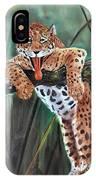 Yawning Leopard IPhone Case