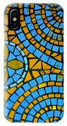 Yellow And Blue Mosaic IPhone Case