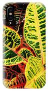 Yellow And Green Croton IPhone Case