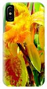 Yellow And Orange Canna Lily IPhone Case
