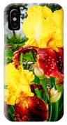 Yellow And Purple Iris IPhone Case