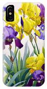 Yellow And Purple Irises IPhone Case