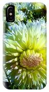 Yellow And White Dahlia Flowers IPhone Case