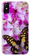 Yellow Black Butterfly On Hydrangea IPhone Case