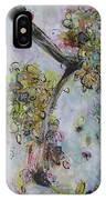 Yellow Blossoms Painting Flowr Butterflies Art Abstract Modern Spring Color Flower Art IPhone Case