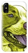 Yellow Bull Fractal Pop Art - 7773 - F - Wb IPhone Case