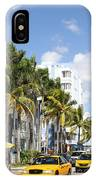 Yellow Cabs On Ocean Drive IPhone Case