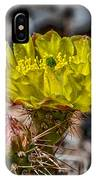 Yellow Cactus IPhone Case