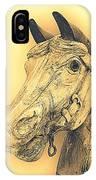 Yellow Carousel Horse IPhone Case