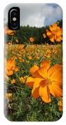 Yellow Cosmos Field In Flower Japan IPhone Case