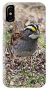 Yellow Crowned Sparrow IPhone Case