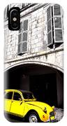 Yellow Deux Chevaux In Shadow IPhone Case