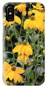 Yellow Echinacea IPhone Case