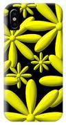 Yellow Flower Power 3d Digital Art IPhone Case
