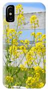 Yellow Flowers And A White Fence IPhone Case