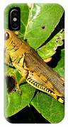 Yellow-green Grasshopper IPhone Case