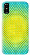 Optical Illusion - Yellow On Aqua IPhone Case