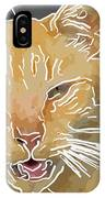 Yellow Kitty IPhone Case