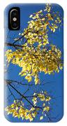Yellow Leaves In Fall And Deep Blue Sky IPhone Case
