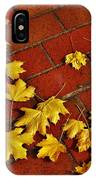 Yellow Leaves On Red Brick IPhone Case