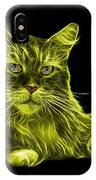 Yellow Maine Coon Cat - 3926 - Bb IPhone Case