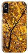 Yellow Maple 3 IPhone Case