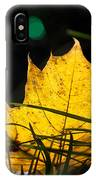Yellow Maple Leaf IPhone Case