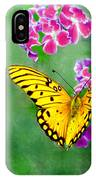 Yellow Monarch Butterfly IPhone Case