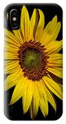 Yellow On Black IPhone Case