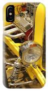 Street Car - Yellow Open Engine IPhone Case