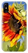 Yellow Orange Sunflower IPhone Case