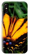 Yellow Orange Tiger Swallowtail Butterfly IPhone Case