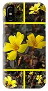 Yellow Oxalis - Oxalis Spiralis Vulcanicola IPhone Case