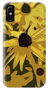 Yellow Paper Flower IPhone Case